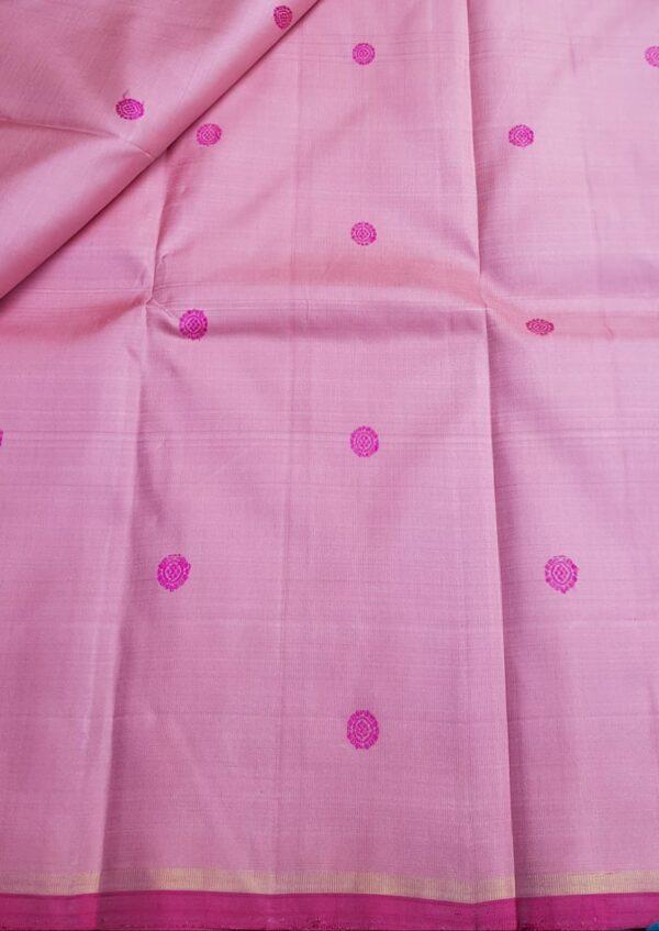 pink meenakari butta fabric