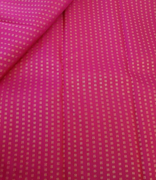 pink star butta fabric