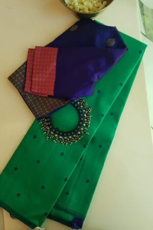 rama green meenakari saree