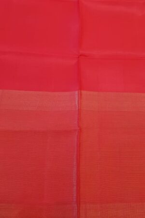 red kanchipuram silk saree with tissue border5
