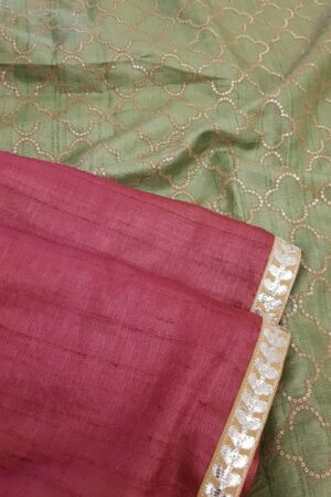 red with green pallu2