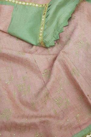 russian green with pink pallu1