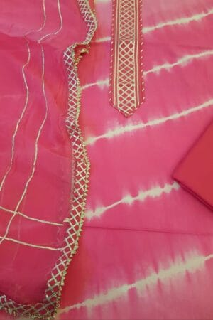 shibori with gota in pink
