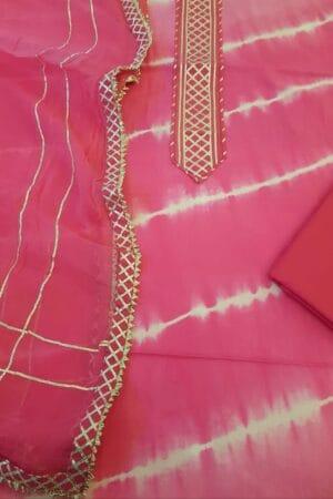 shibori with gota in pink