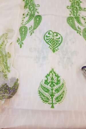 white with green prints 1