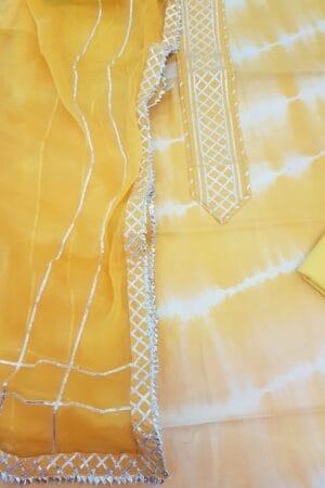 yellow shibori