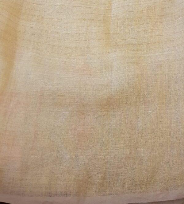 Butter cream linen saree4