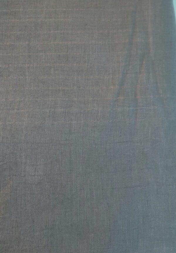 Grey linen saree with jamdhani border2