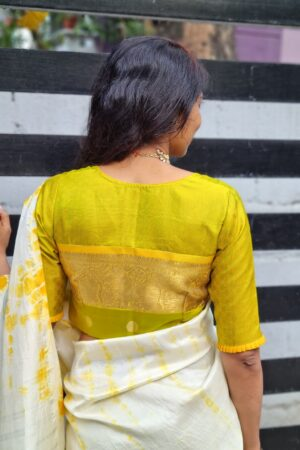 Mustard and green payadi blouse1