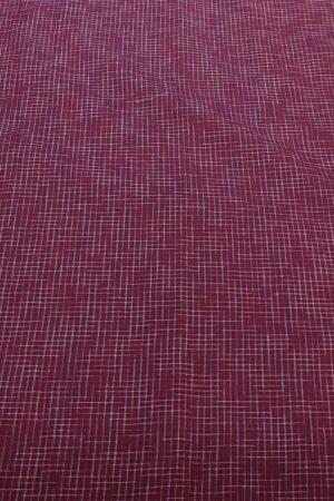 Purple chiffon saree with kanchi cotton border1