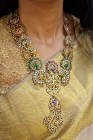 beige and gold kanchipuram silk saree2