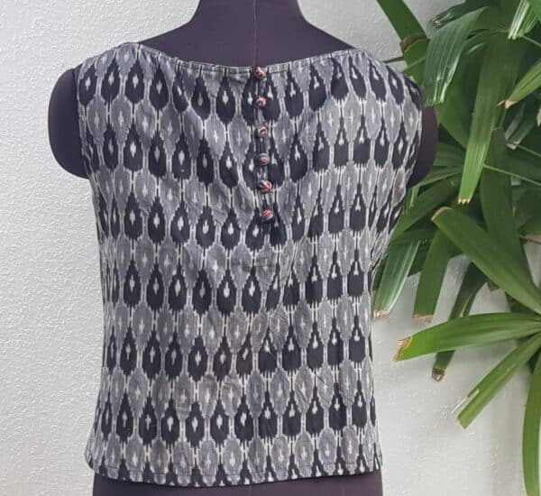 black and grey ikat