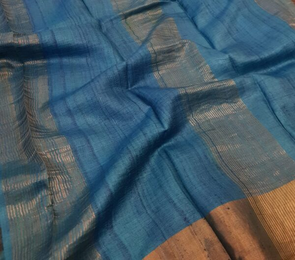black with blue zari border1