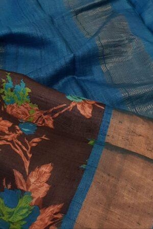black with blue zari border2