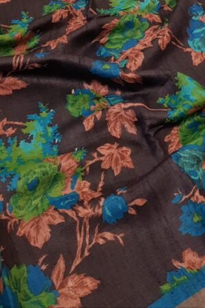 black with blue zari border3
