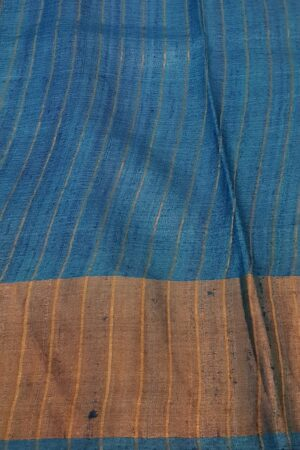 black with blue zari border4