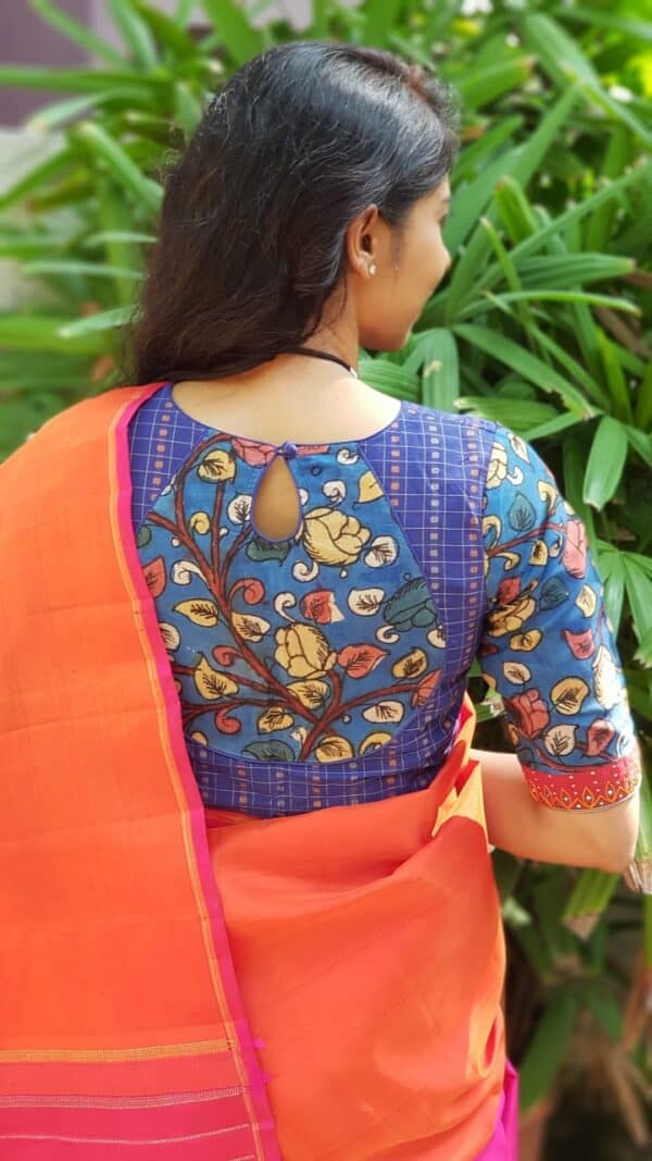 blue cotton and kalamkari1