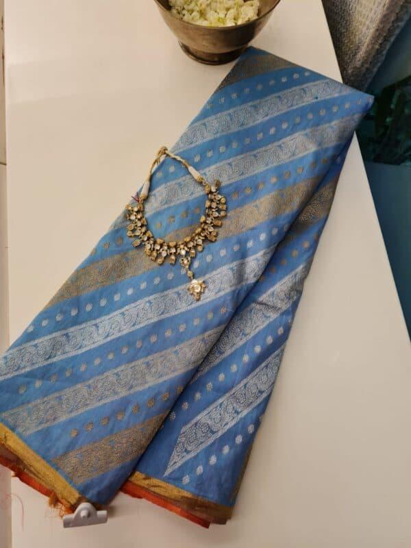 blue linen silk1