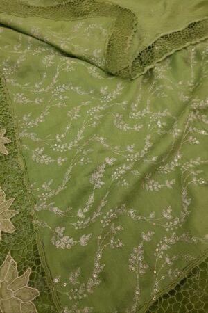 green tussar cutwork1