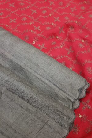 grey with pink pallu1
