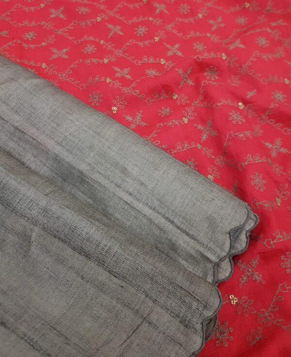 grey with pink pallu1