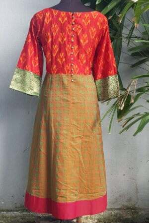 ikat kanchi cotton kurta