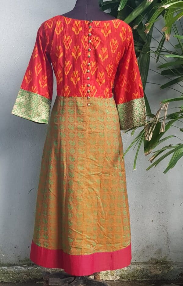 ikat kanchi cotton kurta