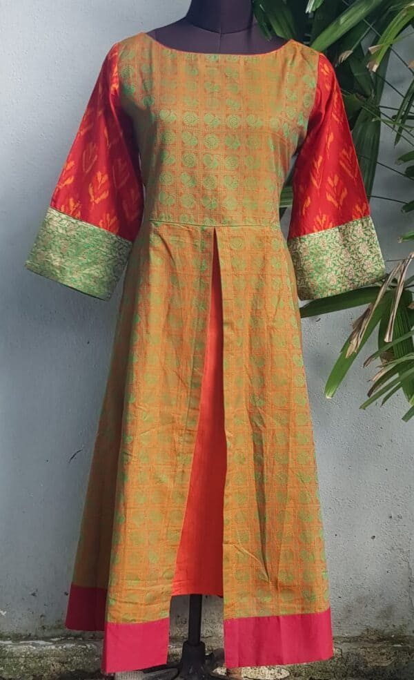 ikat kanchi cotton kurta1