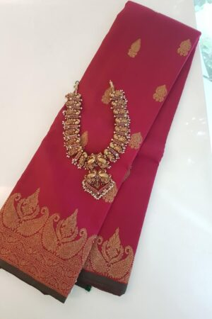 maroon border saree