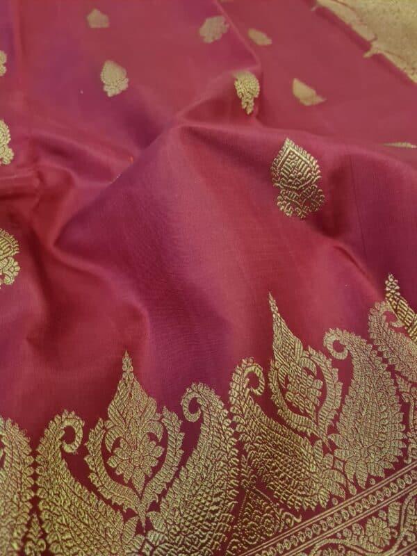 maroon border saree1
