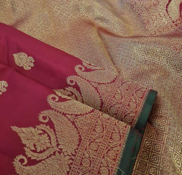 maroon border saree2