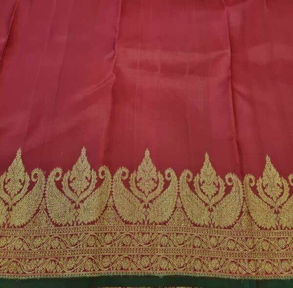 maroon border saree4