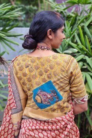 mustard cotton blouse1
