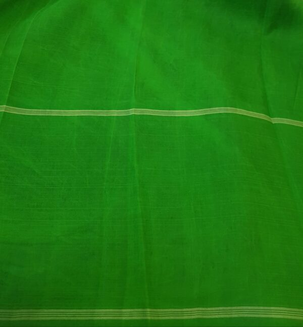 one side green korvai border kalamkari saree3