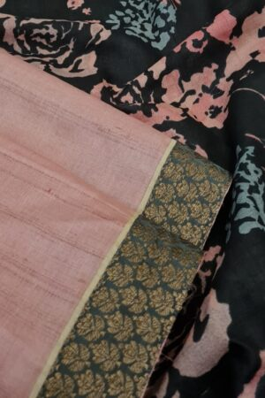 pale rose with black pallu2