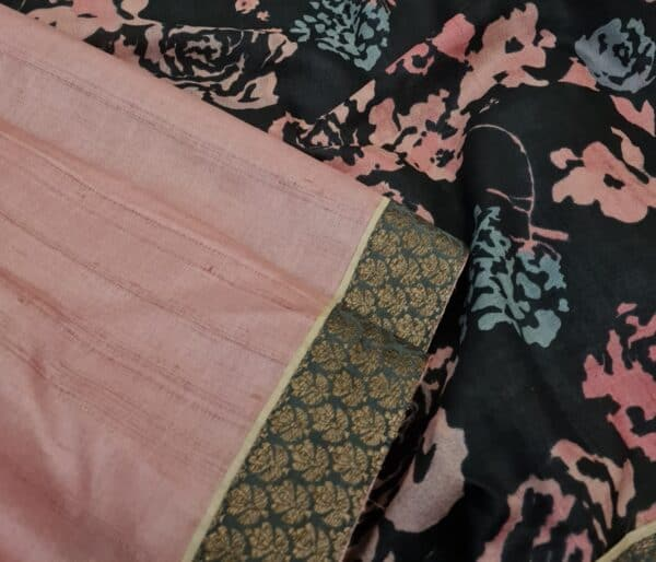 pale rose with black pallu2