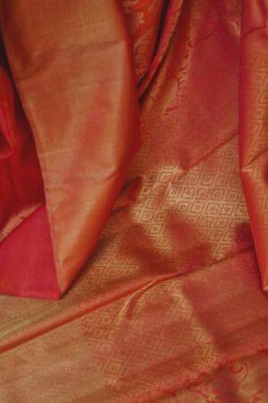 peach bridal saree2