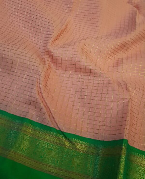 peach with green korvai border3