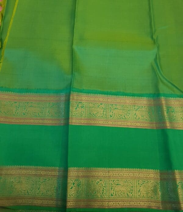 peach with green korvai border4