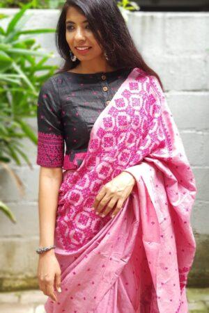 pink box kutch work saree3