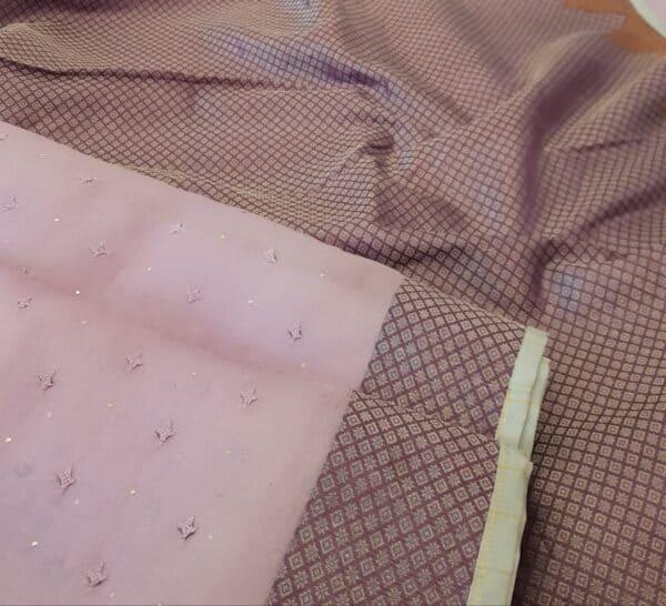 purple organza with kutch work and silk border2