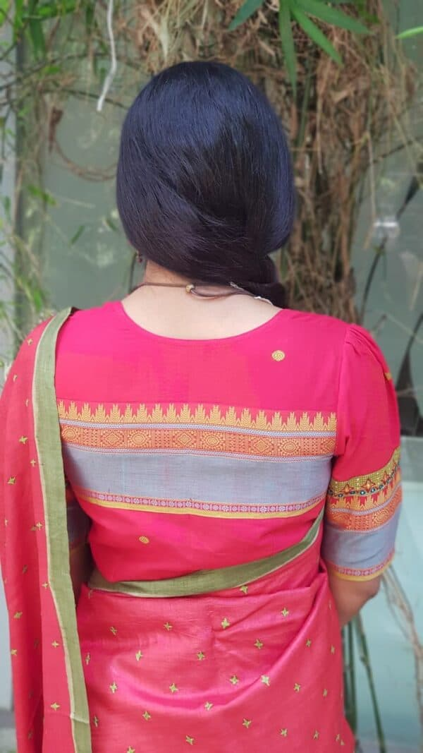 red kanchi cotton