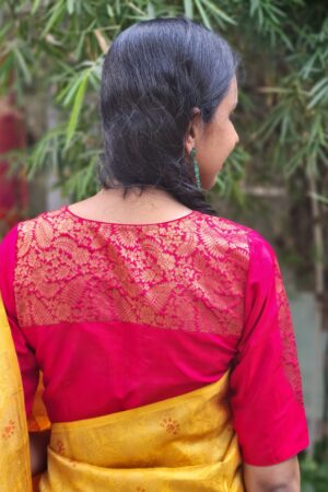 red kanchi silk blouse3