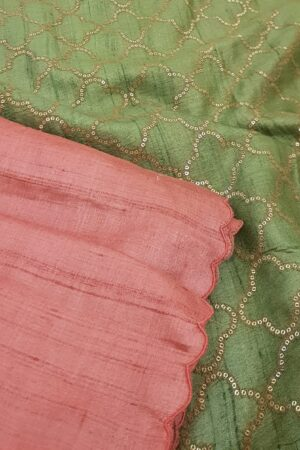 tomato pink with green pallu2