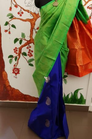 triple color saree