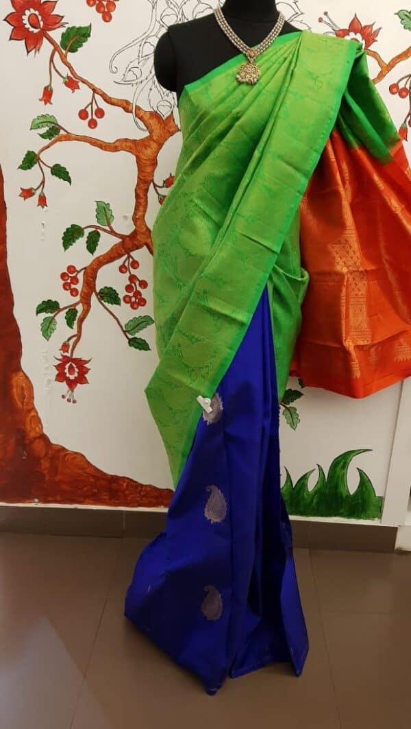 triple color saree