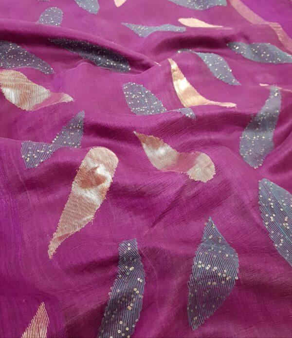 violet matka saree1