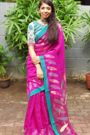 violet matka saree4