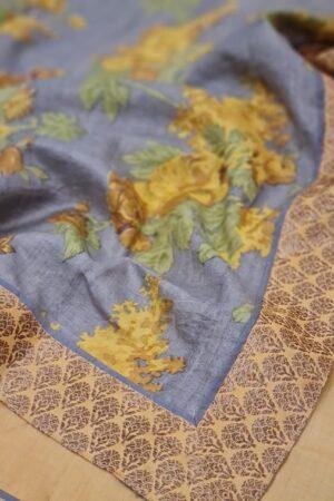 yellow with grey pallu1
