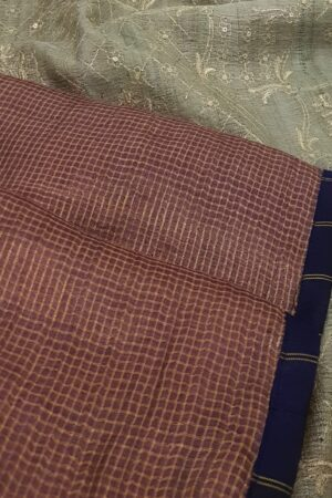 aubergine with greenish grey pallu1